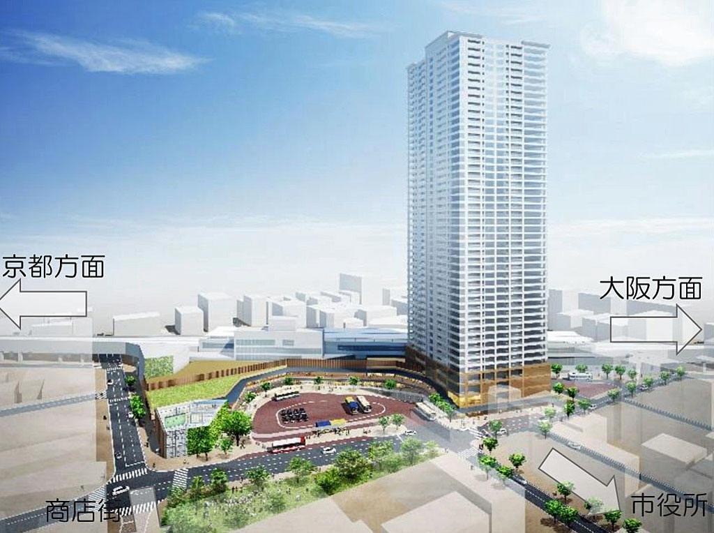 阪急茨木市駅西口駅前周辺整備基本計画(案) 超高層タワーマンション ...