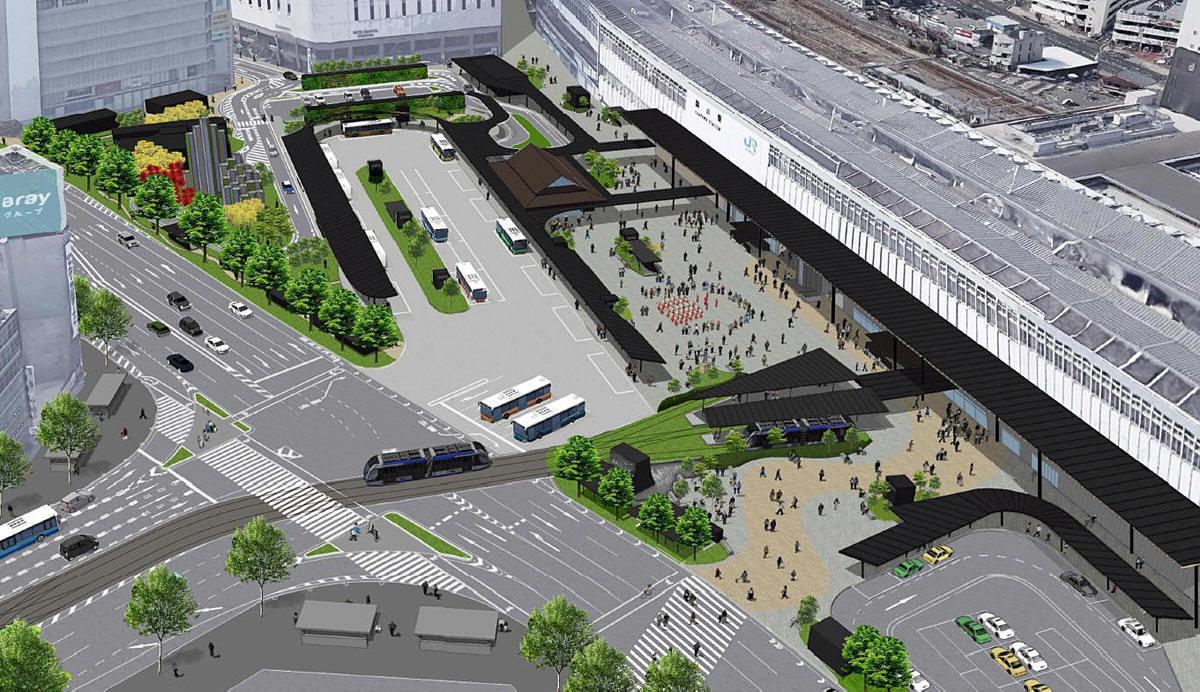 岡山駅前広場が大きく変わる! 岡山駅前広場への路面電車乗入れ計画 ...